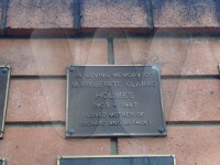 Margurite Holmes (nee Child) burial plaque 1987