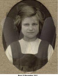 Born 25 November 1912 - Jane (Jenny) Holmes