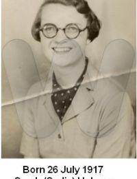 Born 26 July 1917 - Sarah (Sadie) Holmes